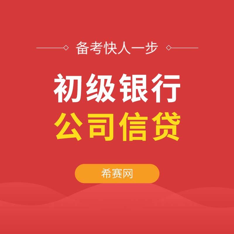 2019无忧考证初级银行公司信贷