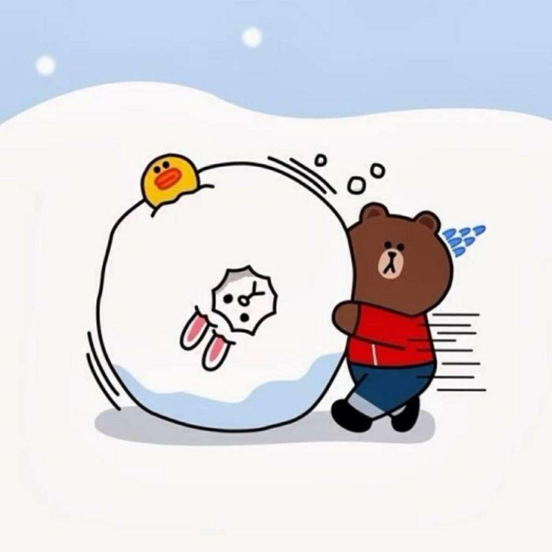 小熊滚雪球