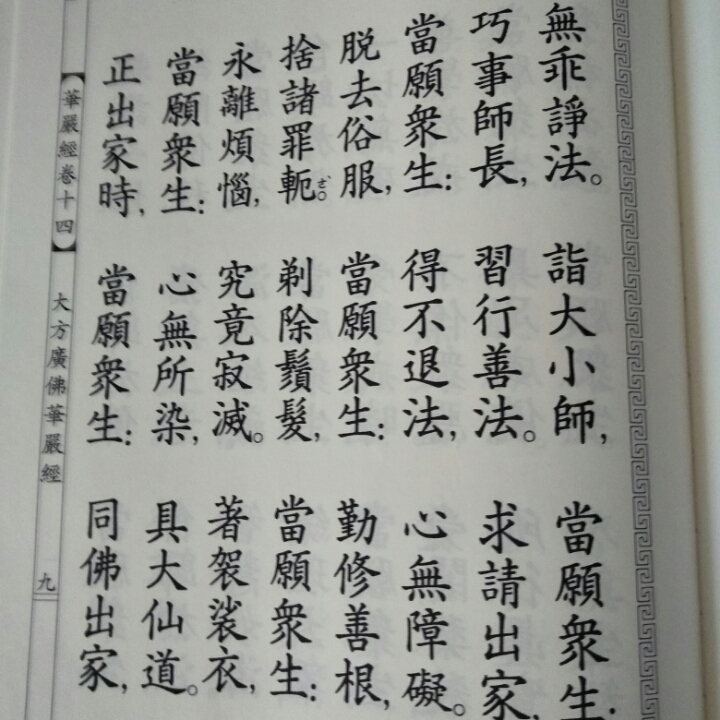 朗读《大方广佛华严经》