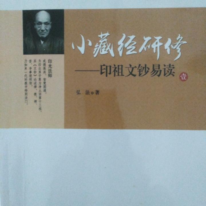 小藏经研修——印祖文钞易读