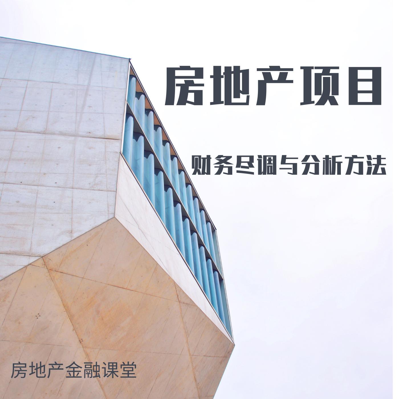 房地产项目财务尽调与分析(研究院第22期