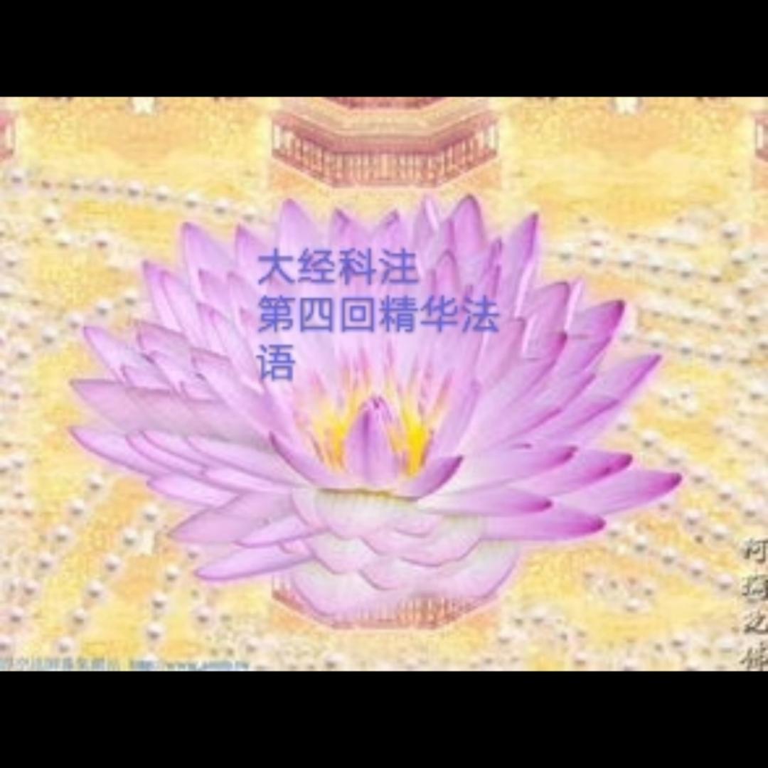 """""""大经科注(第四回)精华法语"""""""